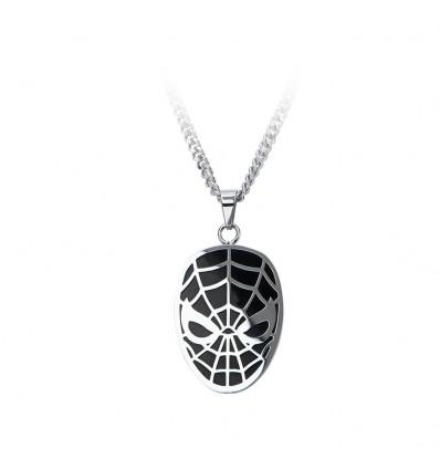 Collana maschera di Spiderman versione argento - Marvel
