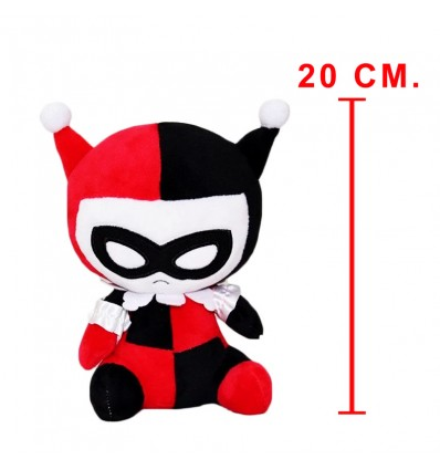 Peluche Mopeez di HARLEY QUINN con VENTOSA - JUSTICE LEAGUE - DC - High Quality Toy