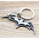 Portachiavi BATARANG di BATMAN in metallo placcato - argentato e nero - DC High Quality Keychain