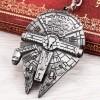 Portachiavi MILLENIUM FALCON - Star Wars - Astronave di Han Solo - Disney - High Quality Keychain