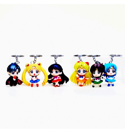 Set Portachiavi SAILOR MOON 6 Pezzi - High Quality Keychain