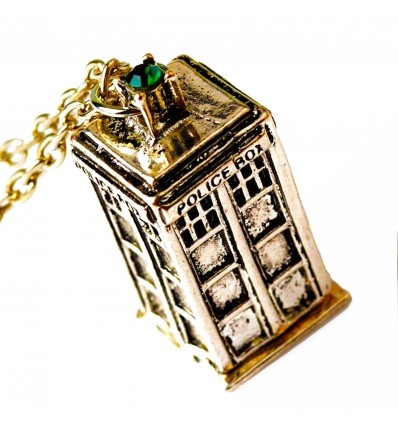 Collana Tardis con pietra versione Oro - Doctor Who