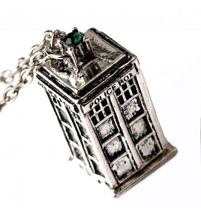 Collana Tardis con pietra versione Argento - Doctor Who