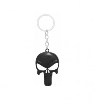 Portachiavi MASCHERA Nera di  The PUNISHER - Marvel - High Quality Keychain