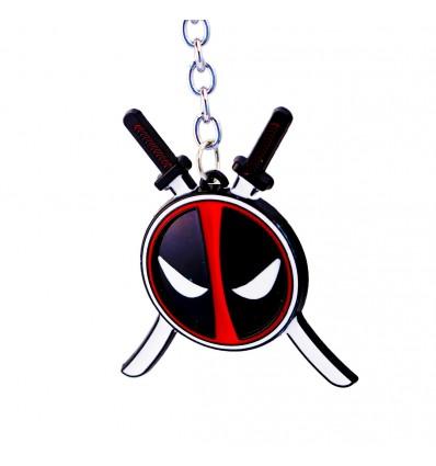 Portachiavi MASCHERA di DEADPOOL con Spade - Marvel - High Quality Keychain