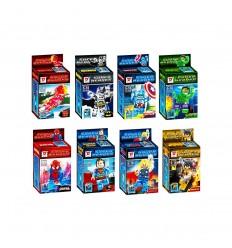 Set LEGO compatibili - Supereroi Marvel e DC Comics - set da 8
