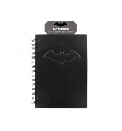 NOTEBOOK/QUADERNINO LOGO di BATMAN - TOTAL BLACK - SPIRALE - A5 - Dc - High Quality
