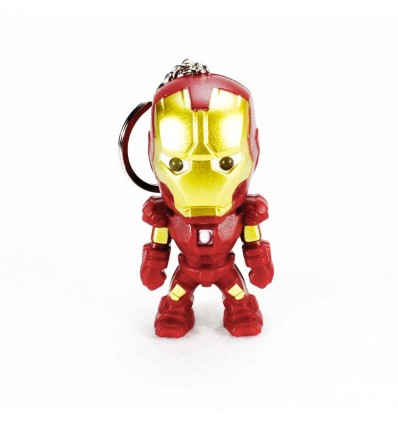 Portachiavi Luminoso Iron Man - Luci e Suoni - Sound e Light - Marvel - High Quality Keychain