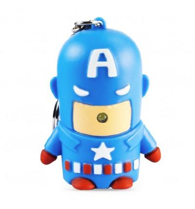 Portachiavi Luminoso Capitan America - Luci e Suoni - Sound e Light - Marvel - High Quality Keychain