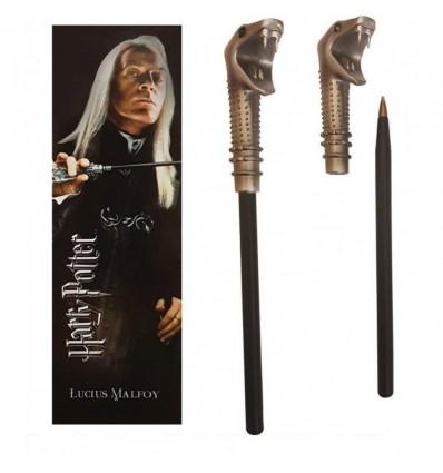 Noble Collection - Penna Bacchetta di Lucius Malfoy e Segnalibro - Harry Potter NN7984