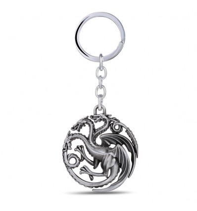 Portachiavi Game of Thrones: House TARGARYEN - DRAGO A TRE TESTE - Trono di Spade - Game of Thrones - High Quality Keychain