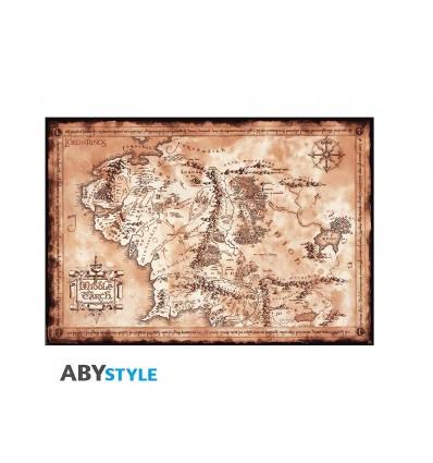 Poster MAPPA della TERRA di MEZZO - Il Signore degli Anelli - Lord of the Rings - LotR - Lo Hobbit - Abysse Corp - High Quality