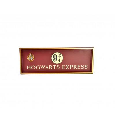Placca in LEGNO Espresso di Hogwarts - Hogwarts Express - Binario 9 e 3/4 - Harry Potter - NN7041
