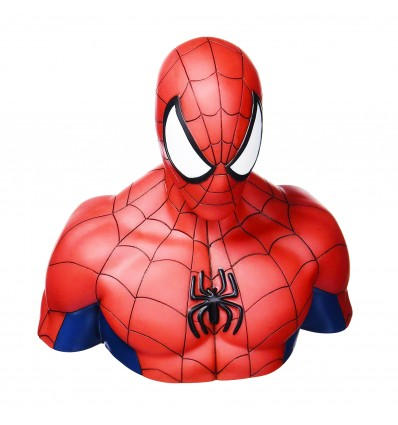 SALVADANAIO BUSTO di AMAZING SPIDERMAN - Uomo Ragno - Bust Blank - Marvel Comics - Abysse Corp - High Quality