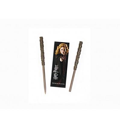 Noble Collection - Penna Bacchetta di Hermione Granger e Segnalibro - Harry Potter NN8634