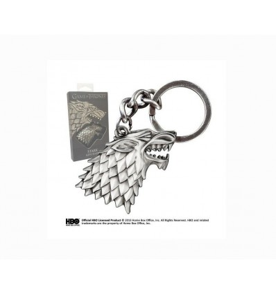 Noble Collection - Il Trono di Spade: Portachiavi METALUPO STARK - Direwolf -XT0084