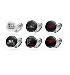Set 4 SPILLE ROTONDE - D&D - Gdr - Dungeon Master - Gioco di Ruolo - Role Game - BADGE - PERSONALIZZABILI! - High Quality