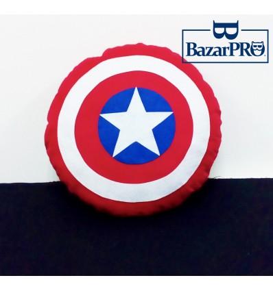 Cuscino Scudo di CAPITAN AMERICA - Cucito & Rifinito a MANO - Marvel Avengers Superhero High Quality