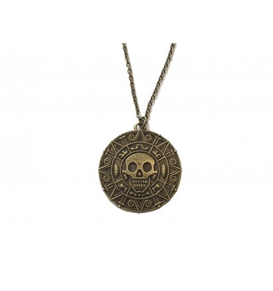 Collana Medaglione Moneta Maledetta di Cortez - Pirati dei Caraibi